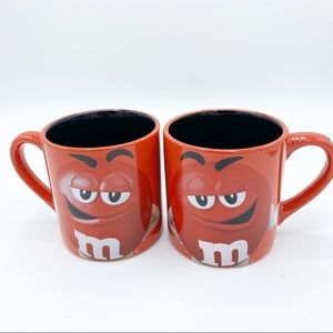 M&M Official Licensed Product Set Of Two M&M Mug's
